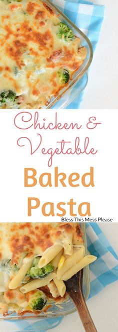 Chicken and Vegetable Baked Pasta ~ this simple and delicious recipe has been is old family favorite. Bonus...it  freezes well too!