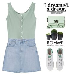"""""""Romwe..."""" by maridhz ❤ liked on Polyvore featuring AG Adriano Goldschmied, adidas Originals and Carven"""