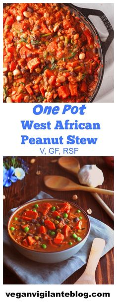 Nutrient-dense and exploding with flavor this One Pot West African Peanut Stew is also vegan and gluten-free. You gotta try it hungry friends!