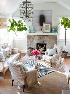 décorer le salon avec plantes vertes, comment décorer sa chambre de séjour
