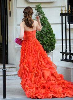 Oscar de la Renta gown