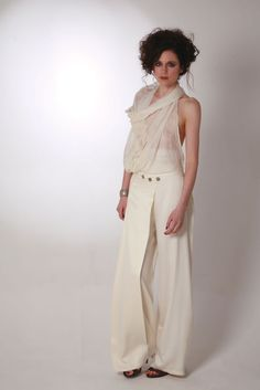 Check out the deal on Elena Garcia Bamboo Palazzo Trousers (Natural) at Eco First Art