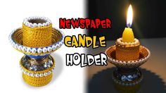 Newspaper Candle holder. Diya Stand | DIY | Best out of waste | SKS Creation 43