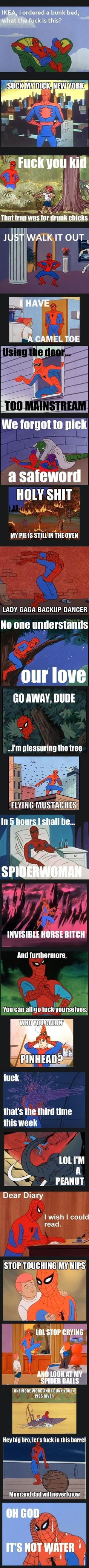 Funny pictures about The Best of Spider-Man. Oh, and cool pics about The Best of Spider-Man. Also, The Best of Spider-Man photos. Best Funny Pictures, Funny Images, Funny Photos, Fail Pictures, Spider Meme, Funny Spider, Dc Memes, Funny Comics, Rage Comics