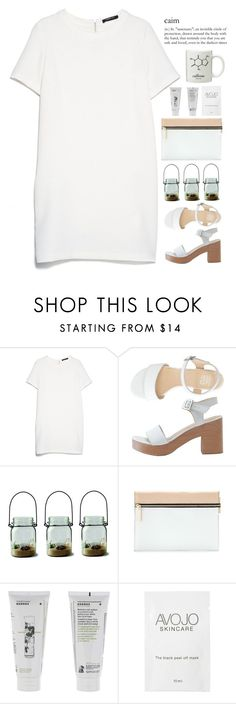 """""""C.a.i.m"""" by annaclaraalvez ❤ liked on Polyvore featuring MANGO, American Apparel, Victoria Beckham and Korres"""
