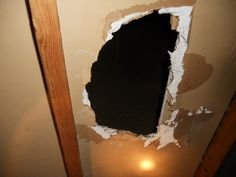 Hole in Condo Attic Firewall