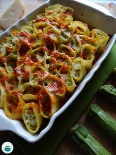 Pasta ripiena di zucchine e ricotta