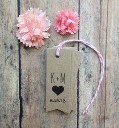 Wedding favor tags  rustic initials wedding tags by PrintSmitten, $12.00