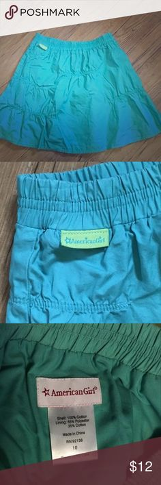 American Girl Skirt Girl's teal green skirt, fully lined. Brand is American Girl. Size 10. No flaws. Bottoms Skirts