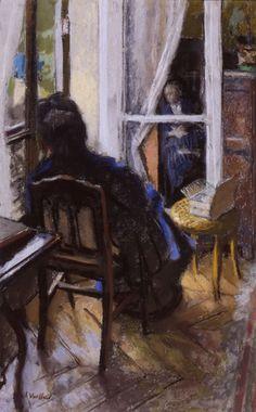 Edouard Vuillard - A la fenêtre (1915) oil on canvas 70 x 54 cm Musée André Malraux, Le Havre, France