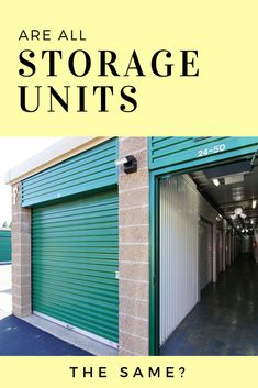 While we won't get into the difference between all aspects of storage facilities, the actual units themselves can differ quite drastically… Storage Unit Sizes, Self Storage Units, Secret Storage, Hidden Storage, Storage Design, Storage Ideas, Customer Service Quotes, Storage Facilities, Hidden Rooms
