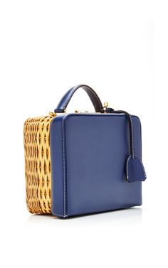 Grace Box Rattan With Saffiano by Mark Cross for Preorder on Moda Operandi