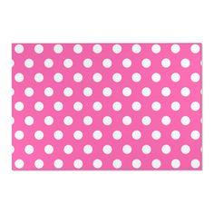 HOT PINK RUG White Polka Dots Girls Room Decor
