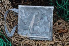 Sterling Mermaid Pouch Waterproof Wristlet by saltydesignsalaska, $24.00
