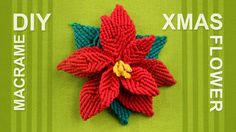 Here you can see how to make a Christmas flower in macrame style. You can add this Christmas Flower to your holiday decor, for example in Christmas wreath.