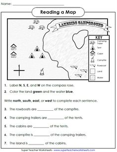 Check out this worksheet from our map skills page to help students learn how to use cardinal directions!
