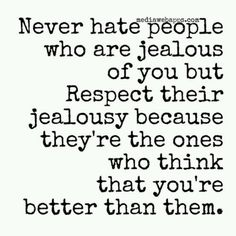 Agree but prob wouldn't refer to it as respecting them...