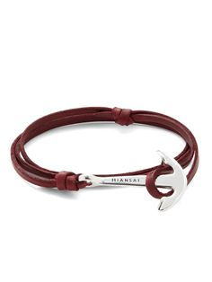 Miansai men's leather anchor bracelet #nautical #leather #bracelet #kysa