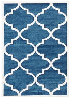 Large Modern Trellis Rug Blue from Rugs Of Beauty. This beautiful patterned, low maintenance, dense pile rug would make a classy addition to any living space.   View here: https://www.rugsofbeauty.com.au/collections/trellis-rugs/products/large-modern-trellis-rug-blue?variant=19629606337