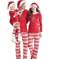 9250e174049 Ecarton Couple Family Nightwear Women Mens Kids Baby Matching Dress  Christmas Xmas Sleepwear Pajamas Sets Matching