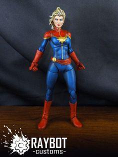 Captain Marvel (Carol Danvers) Custom painted Action Figure