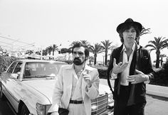 Martin Scorsese and Robbie Robertson at the 1978