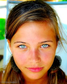 Eyes blue piercing gorgeous. No make up, just gorgeous eyes!!