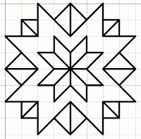 free blackwork stars fill pattern