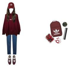 """""""sweater weather"""" by tttlsp ❤ liked on Polyvore featuring MANGO, Supreme, Vans, adidas, FOSSIL, FRUIT, GHD and Floyd"""