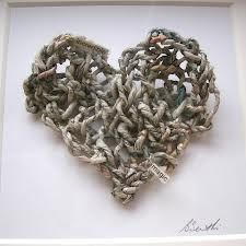 Newspaper heart. #crafts #DIY #recycling