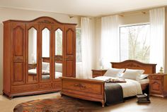 Mobila / Mobilier Dormitor clasic lemn Anca Ana nuc/stejar | RON0.00 | #mobilena.ro Bed Design, China Cabinet, Bedroom, Storage, Furniture, Home Decor, Amanda, Libraries, Purse Storage