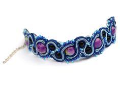 Sutasz-Anka: Orion Blue - bracelet http://www.soutage.com/2012/08/orion-blue-bransoletka.html#more