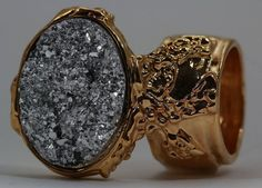 DRUZY STYLE KNUCKLE ART RING SILVER on GOLD CHUNKY ARTY WOMEN STATEMENT JEWELRY #Unbranded - designer jewellery, gold jewellery uk, best jewelry stores *sponsored https://www.pinterest.com/jewelry_yes/ https://www.pinterest.com/explore/jewellery/ https://www.pinterest.com/jewelry_yes/rose-gold-jewelry/ https://www.livefashionable.com/collections/jewelry
