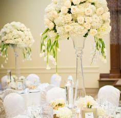 Hydrangea and vandella big size centerpiece Toronto wedding