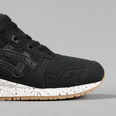 timeless design c3de2 ddfda Asics Gel Lyte 3 Retro Running Trainers Shoes Black Canvas White £85.00  Kunst Retning,