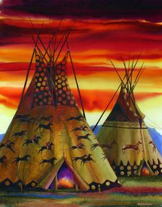 Big Fork, Montana by artist Nancy Cawdrey, date unknown. Native American Paintings, Native American Pictures, Native American Beauty, Native American Artists, American Indian Art, Native American History, Native American Indians, Native Indian, Native Art