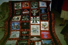 Tee Shirt Quilt Shirt Quilt, Bohemian Rug, Tee Shirts, Quilts, Blanket, Rugs, Home Decor, Farmhouse Rugs, Chemises