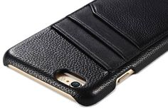 iCarer iPhone 6 Plus/6S Plus Litchi Pattern Card slot Back Cover Series Genuine Leather Case