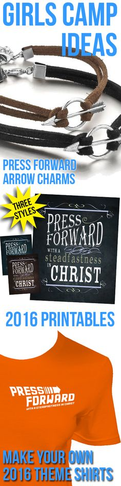2016 Mutual Theme: Press Forward with a Steadfastness in Christ - Ideas for LDS Young Women, LDS Primary, LDS Seminary, and Relief Society teachers and leaders.