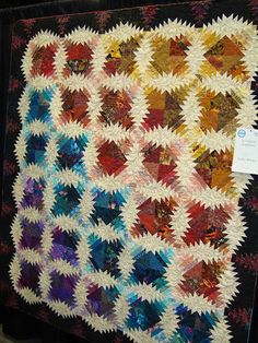 amazing log cabin/pineapple quilt ~not sure of the official pattern name????