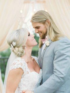 elegant outdoor ms wedding | bride and groom photos | blush drapery backdrop | outdoor wedding ceremony