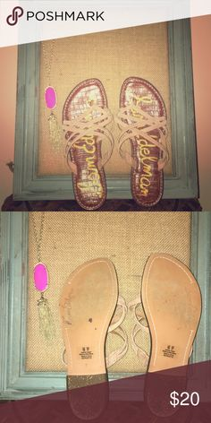 Sam Edelman Leather Flip Flops A summer go-to! Little previous wear, ready for fun! Leather upper. Sam Edelman Shoes Sandals
