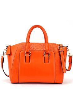 Brief Crocodile Orange Bag #Romwe