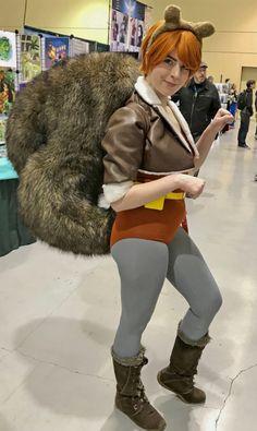 I am Squirrel Girl.Fear me! Marvel Costumes, Marvel Cosplay, Girl Costumes, Halloween Costumes, Cosplay Ideas, Costume Ideas, Squirrel Girl Marvel, Unbeatable Squirrel Girl, Nutty Buddy