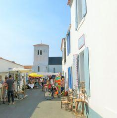 Saint Sauveur Market in Île d'Yeu, France