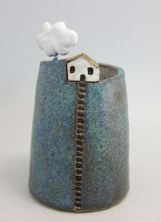 Cloud Collector 2...Bud Vase/Pen Holder in Stoneware More