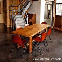 Beautiful aged Belgian farmers table