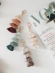 Mini Tassel Keychain - Reece & Co. By Kiana Mini Tassel Keychain - Reece & Co. By Kiana , Mini Tassel Keychain – Reece & Co. By Kiana , ✰on the road✰ Source by neesmackenzie. Tassel Keychain, Diy Keychain, Keychain Ideas, Keychain Design, Cute Car Accessories, Jewelry Accessories, Christmas Accessories, Interior Accessories, Vintage Accessories