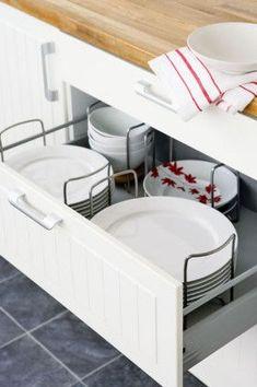 Kitchen Storage Ideas. Dish DrawersCupboard DrawersIkea Drawer DividersIkea  ...