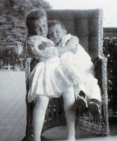 Grand Duchess Anastasia with her brother Alexei. Photo credit: Beinecke Library.